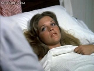Gorgeous Retro Star Candice Rialson Laying Topless On a Hospital Bed