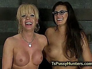 Blonde Busty Tranny Cock Sucked In Bdsm