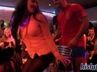 Hardcore group sex party with Euro stunners  (2)