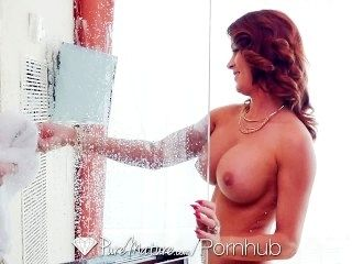 PURE MATURE Busty milf Sabrina Cyns shows her experienced fucking skills (3)