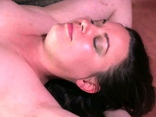 Wild man gives hard BDSM lesson to bound dark haired housewife Amy Nicole
