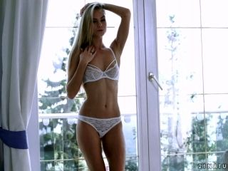 Blond babe Nancy enjoys having erotic sex with her passionate boyfriend early in the morning