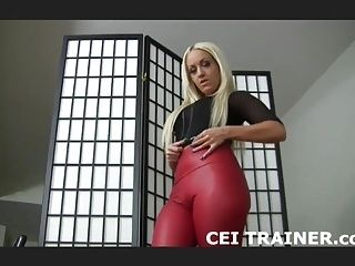 Eat your own cum off of my boots CEI