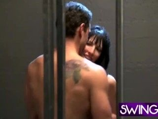 A Fabulous Reality Hardcore Foursome Fuck In The Prison Cell (3)