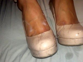 Drunk Cousin Lets Me Cum On Her Nude High Heels