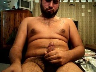 Intense Latino jerk off a huge load