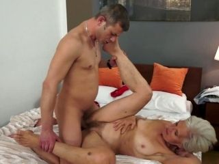 Grey Haired Granny Fucks Young Stud In A Missionary Position
