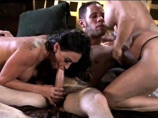 Ericka Lauren and Claudia Valentine Double Team Wolf Hudson (23)