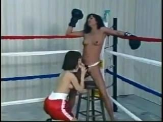 Topless Strapon Boxing