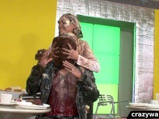 European Babes Get Wet And Messy During Catfight (2)