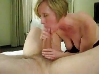 M.I.L.F. mom janet works her sons friend's huge cock