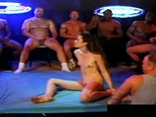 Skinny Sabrina Johnson is pleased to be surrounded with so many cocks