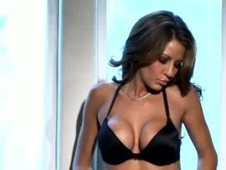 Solo Session with Round Boobed Brunette Bombshell In Lingerie Lexi Stone