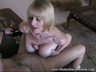 Titjob and Cum From Amateur Granny (3)