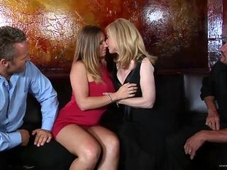 Captivating Blonde With Big Tits In Stocking Getting Banged Doggystyle In Foursome