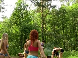 Dominika & Eva Berder & Jenny & Penny & Rita-Moor & Sabrina in hot college sex video made in the outdoors