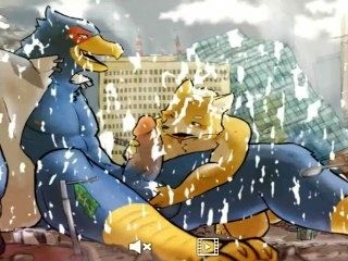 JERKING IN THE CITY furry yiff porn animation