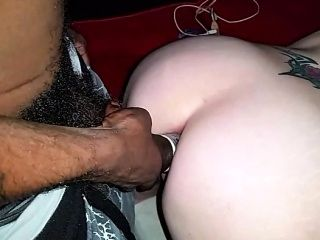 Adult White Partner With Dark And Husband Bull