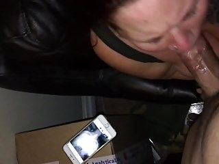 Whore Sucking Cock & Getting Face Fucked