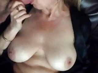 Blonde Big Tits Sucking Cock In Front Of Window