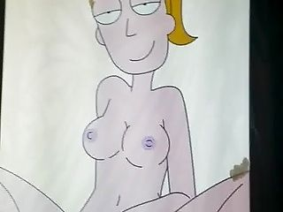 Cumming on Summer Smith from Rick & Morty SOP