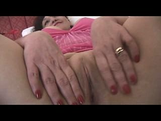 Busty Mature Brunette In Sheer Panties Showing Off Plump Pussy