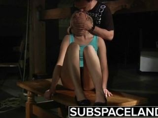 Bdsm Slave punishment and rough fuck for teen in kinky bondage sex video