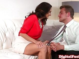 Busty Lawyer Cumshowered By Assistant (3)