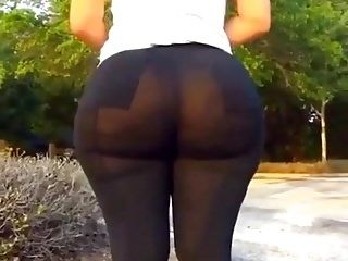 Ms. Cakes' see thru legging booty