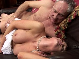 Sexy Brunette Sucking Cock And Getting Fucked By Old Man (2)