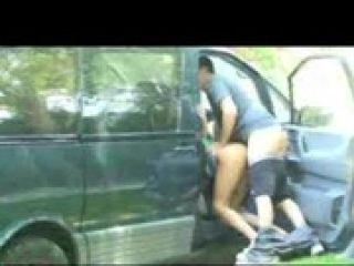 Horny couple fucking outdoor. Pubilc nudity
