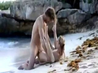 passionate outdoor sex on beach