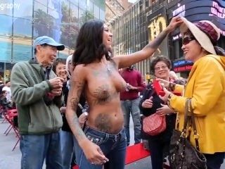 Bonnie Rotten - Topless Outdoors