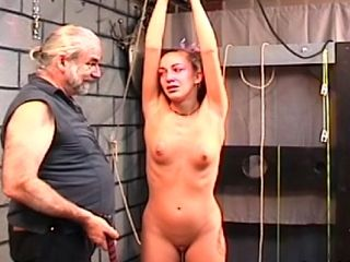 Old Man Puts Sexy Teen In Bondage