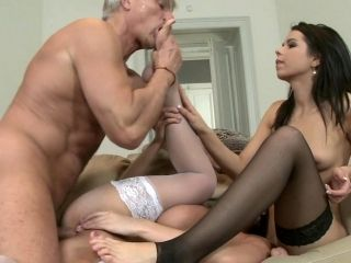 Two Cock-Sucking Brunettes Are Banging In Asses
