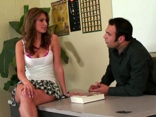 A Coed Cums All Over Her Teacher's Cock When He Pounds Her After Class