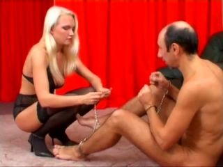 Foot Fetish In High Heels Posing Lovely While Stepping On Slave Face
