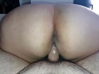 Greek Reverse cowgirl riding and creaming my cock