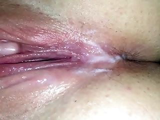 Creampie after I fucked my girlfriend