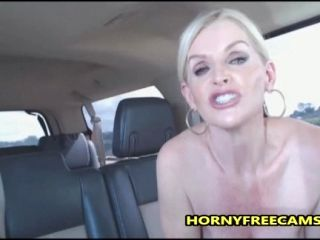 Busty Milf Public Sex And Mouth Full Of Cum In A Car (2)