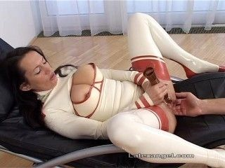 Latex Girl Anal Fisted And Squirts