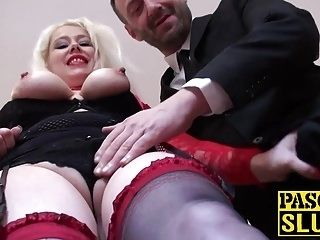 Horny nymphomaniac Valentina gets a large cock in her pussy (5)