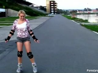 Innocent Welli Gives Some Serious Head As She Rollerblades