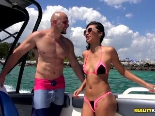 Out on a boat Jade Jantzen takes off her bikini and takes it in the ass (2)