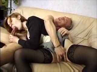 French Nina sucks dick and fucks after hot interview