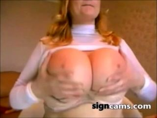 Blonde Milf With Amazing Natural Big Tits On Webcam (2)