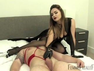 leather glove tease and HOM mistress