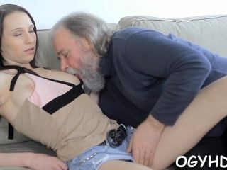 Horny Old Man Is Eager To Plow That Hot Brunette Teen