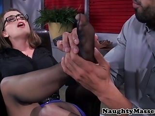 Classy Babe Facefucked After Toesucking (6)