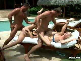 Tarra and Kathy Are Joined by Two Horny Studs for Some Outdoor Sex